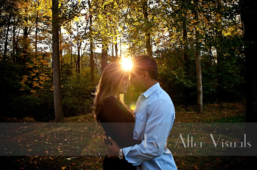 virginia fall engagement photography