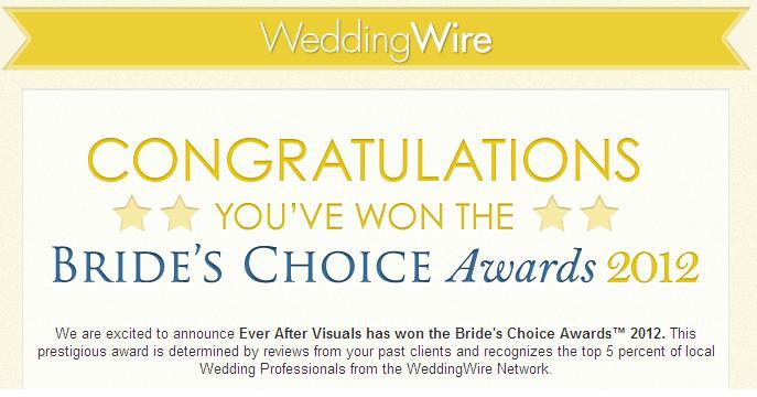 Wedding Wire Award 2012