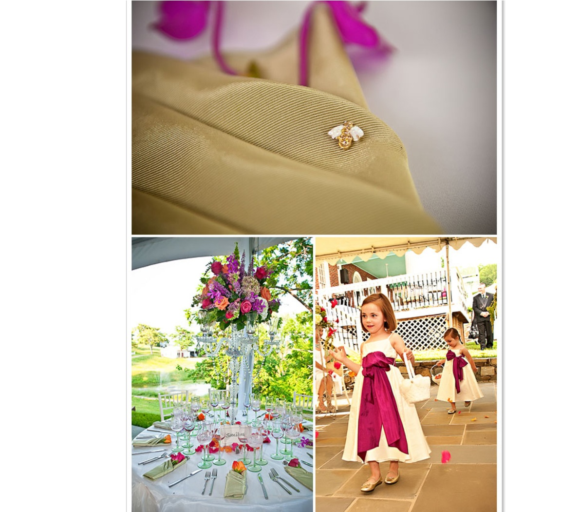 wedding decor and flower girl