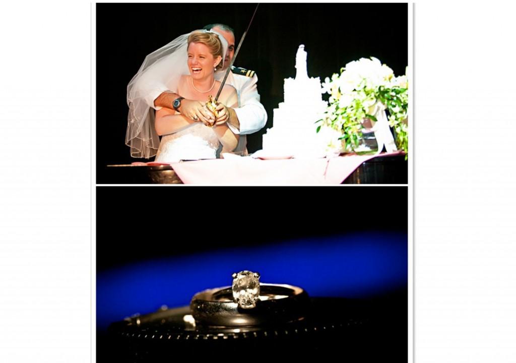 wedding cake and ring