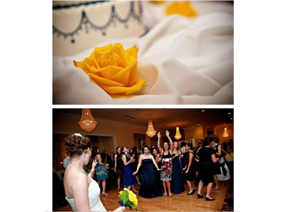 throwing the bouquet