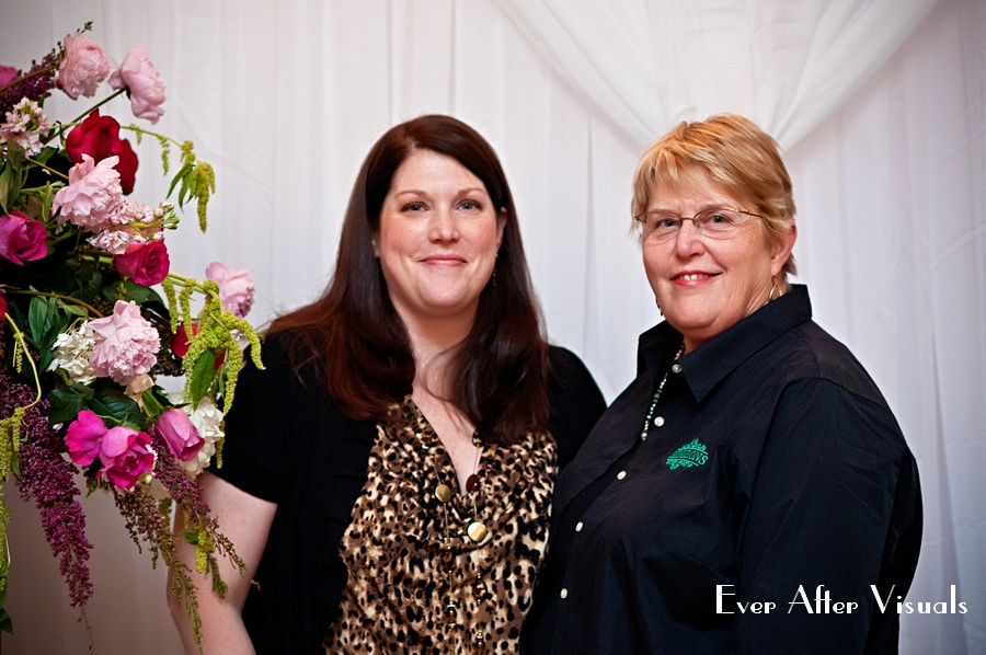 Christi and her mom, who helped Christi get her start in floral design.