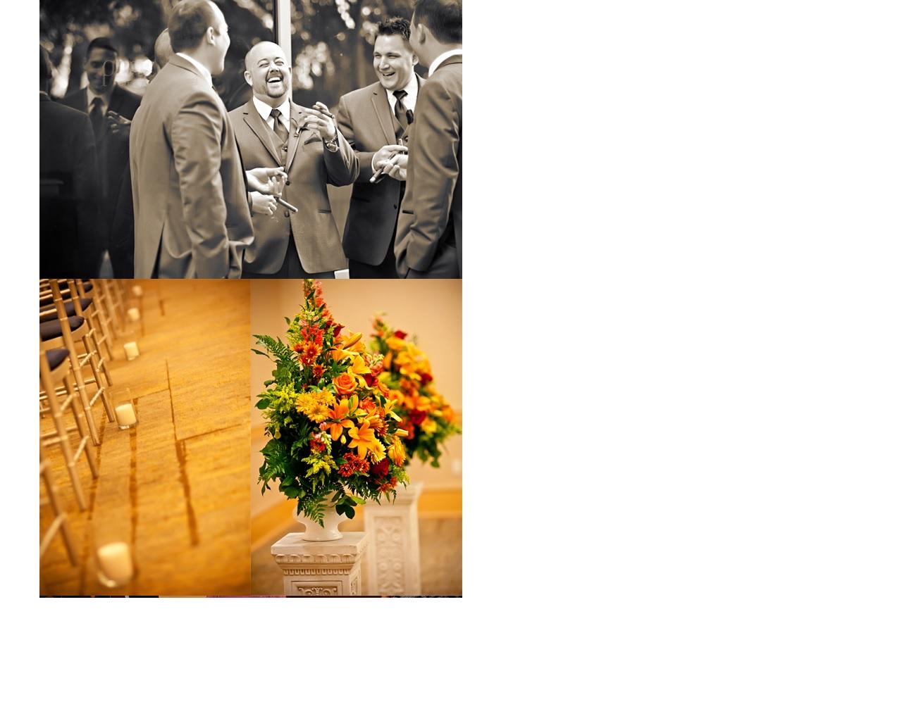 groomsmen & wedding decor