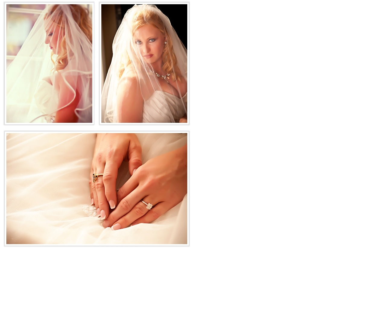 bridal portrait with rings