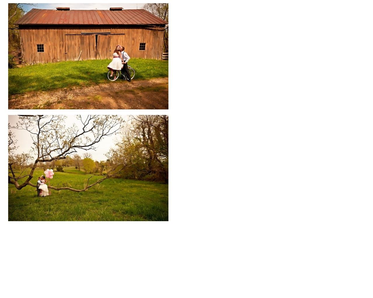 bride & groom on bicycle