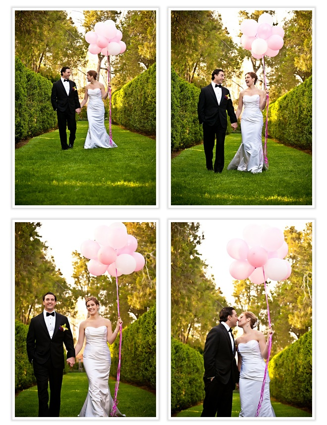 bride-and-groom-with-pink-balloons