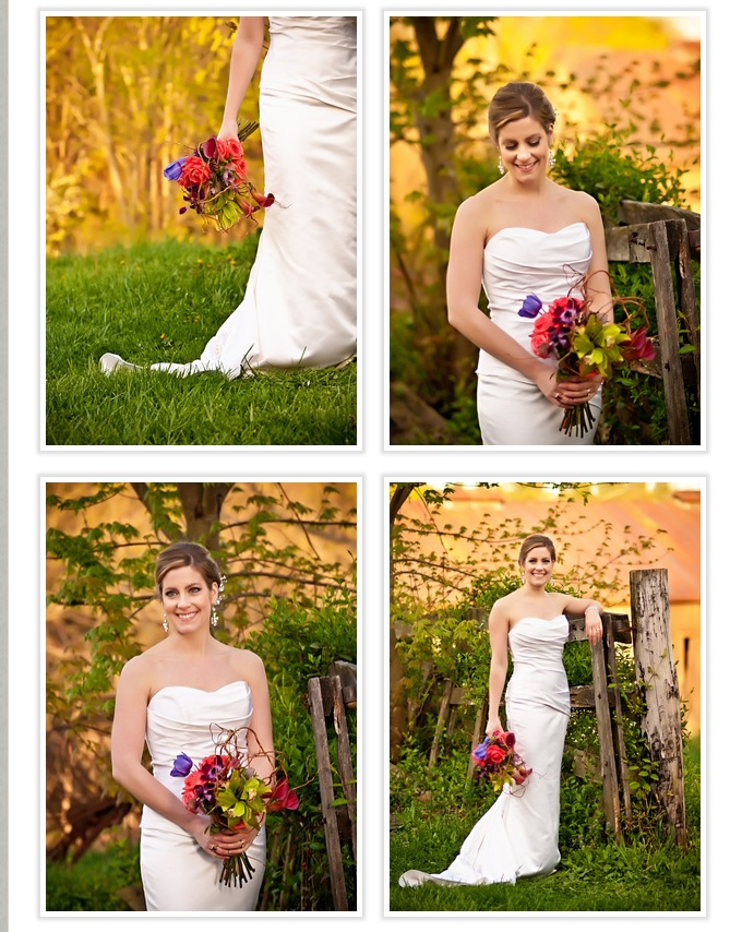 bride-with-bouquet-in-daylight-outside