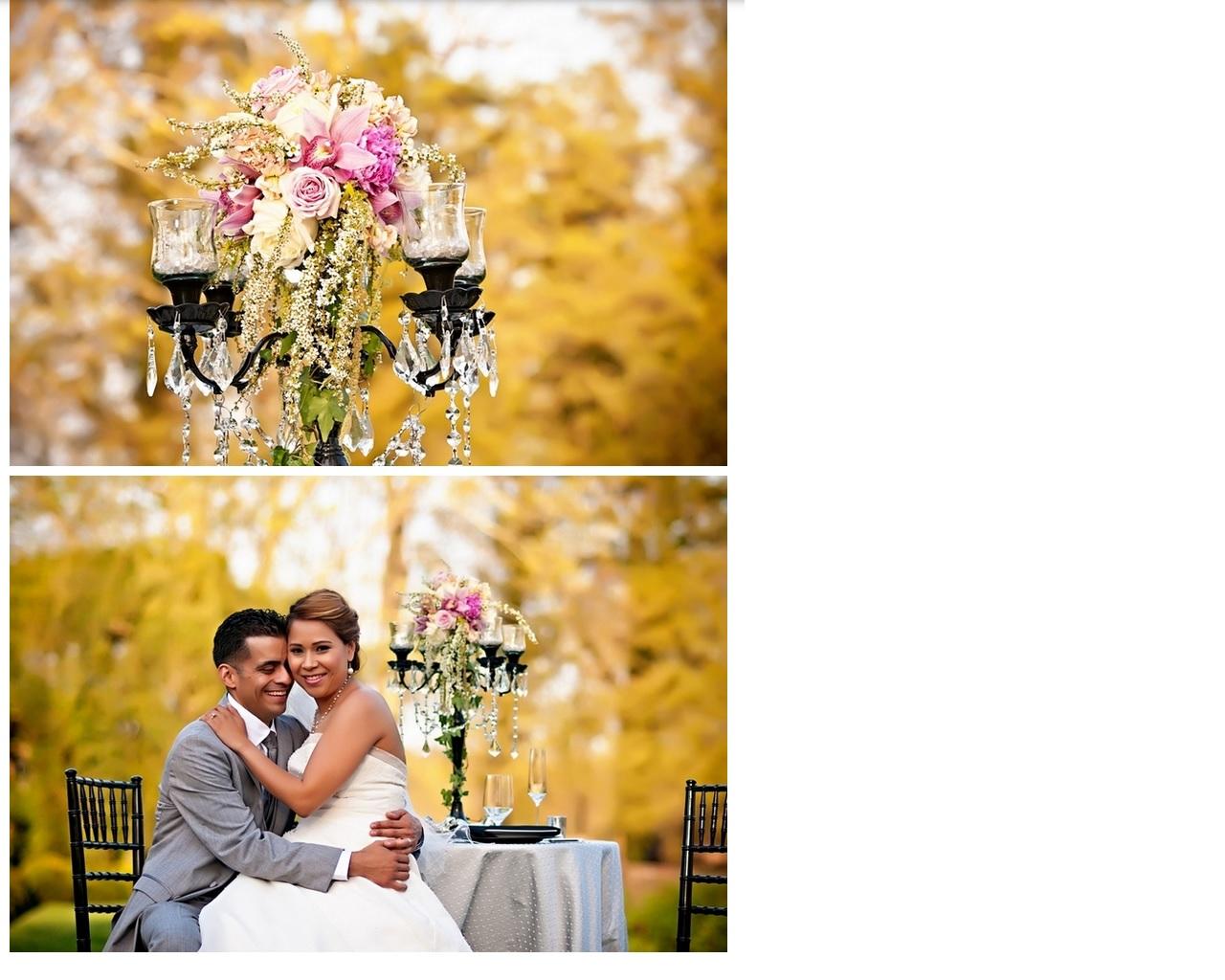 pink bouquet & decor