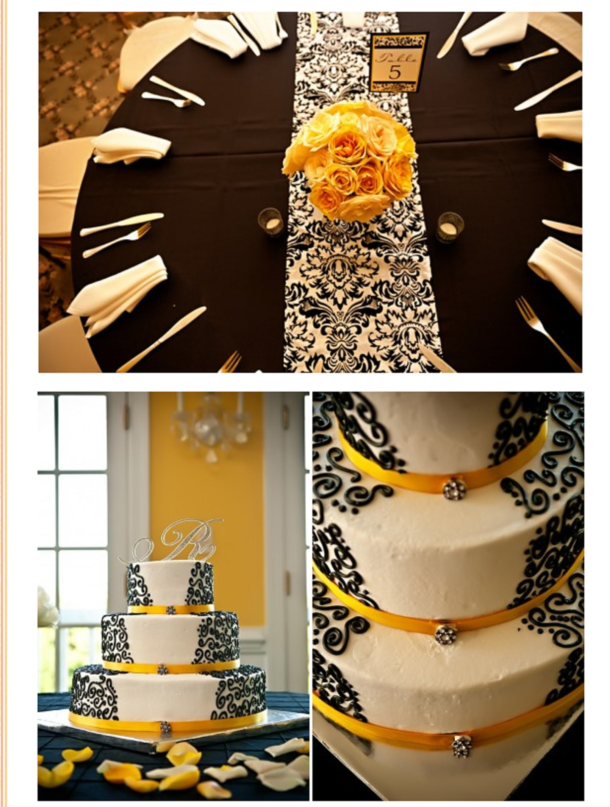 three-tier-damask-wedding-cake