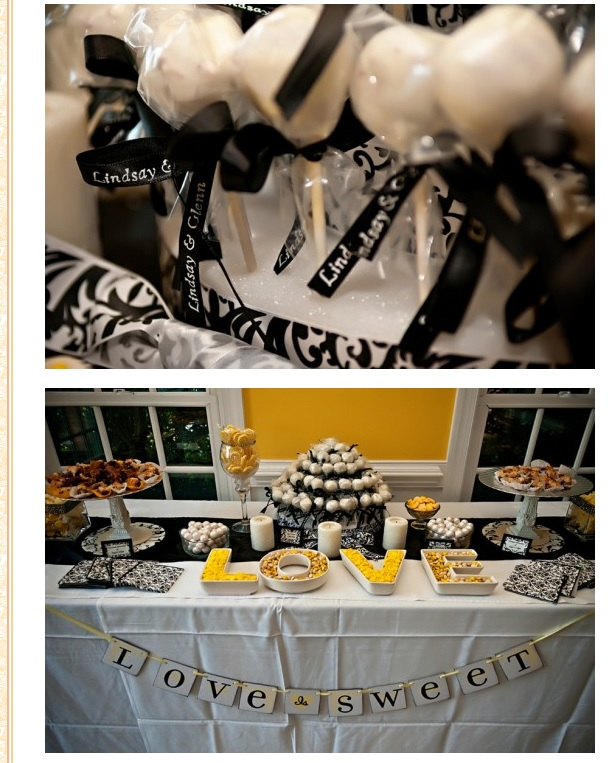 yellow-black-wedding-decor
