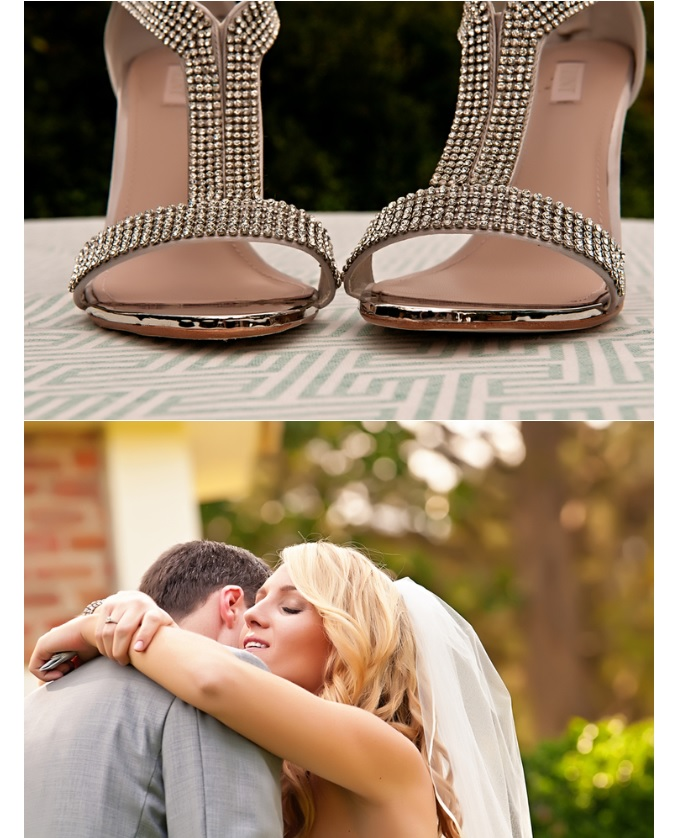 Front view of bridal shoes