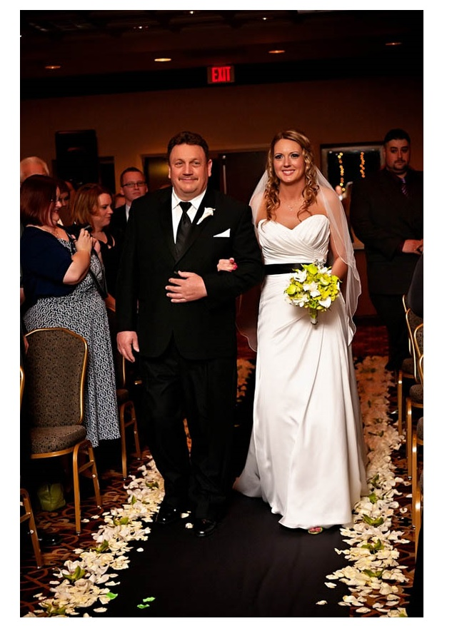 Bride walking down the aisle at Holiday Inn Dulles