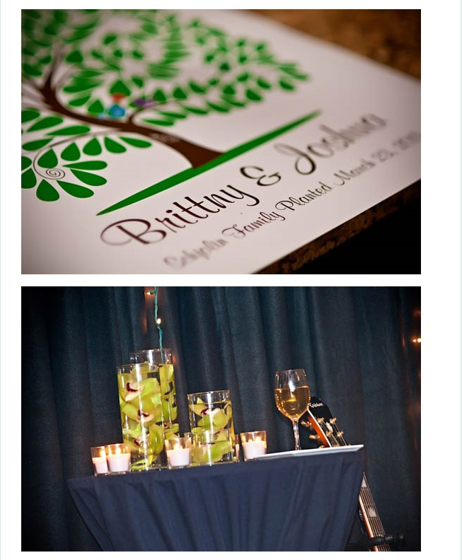 Wedding decor of candles