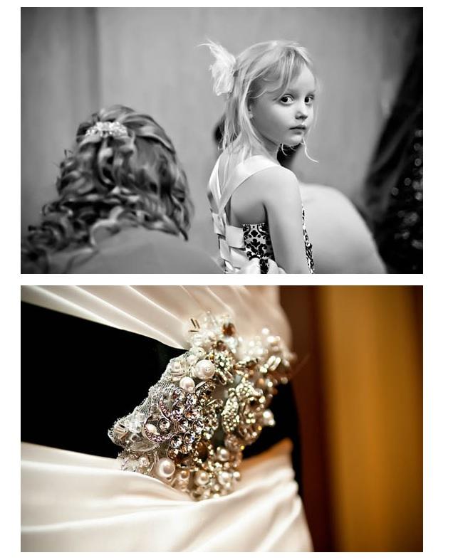 Wedding decor-pearl broach