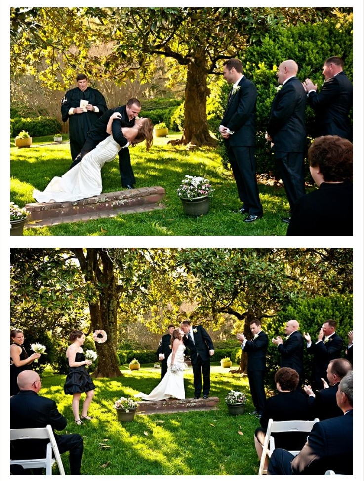 Outdoor wedding ceremony at Movern Park