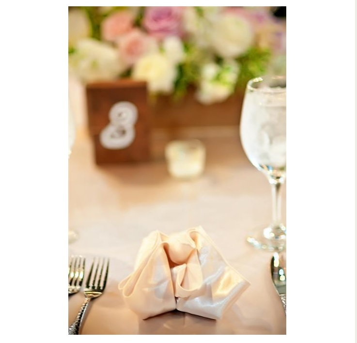 Wedding decor at reception table