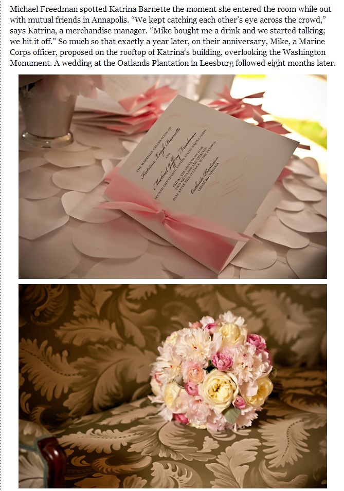 Closeup of pink bouquet and invitation