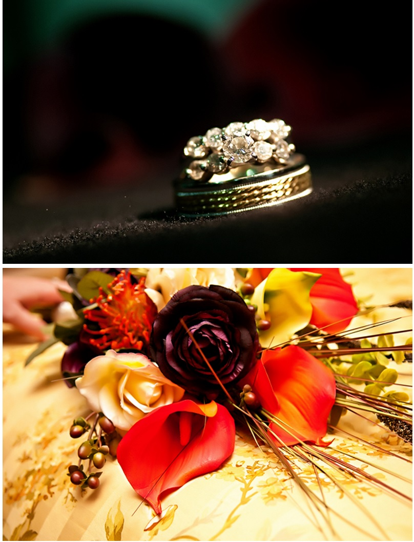 Bride's ring and bouquet