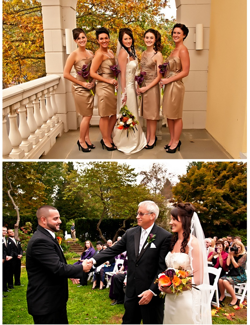 Bridal party and ceremony