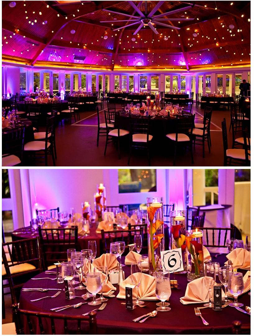 Wedding decor reception tables