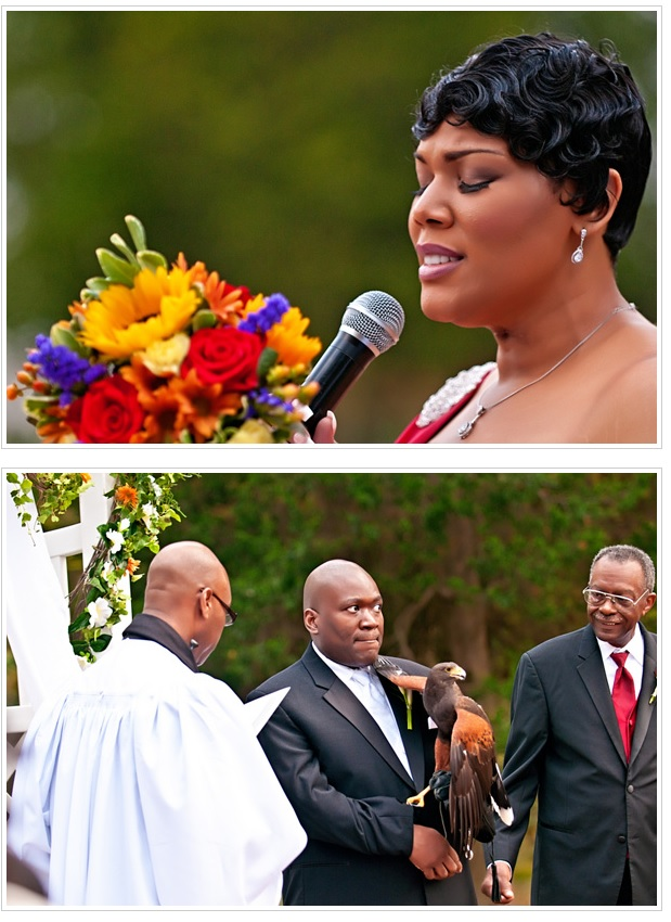 Newton White Mansion wedding ceremony.