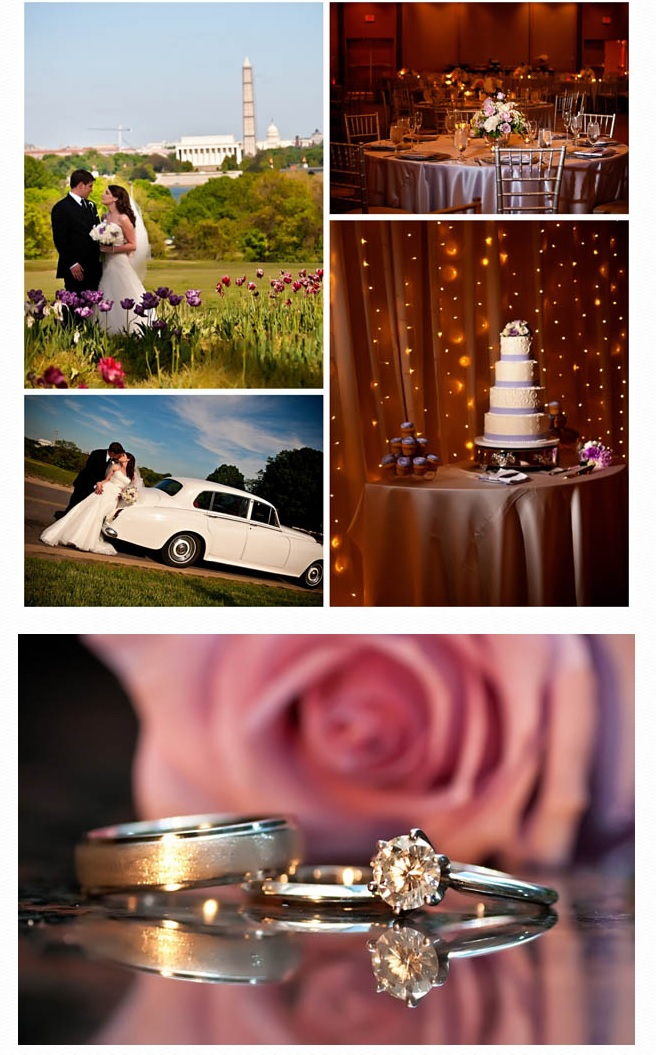 Wedding cake and limousine
