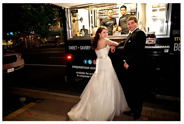 Bride and groom in Arlington