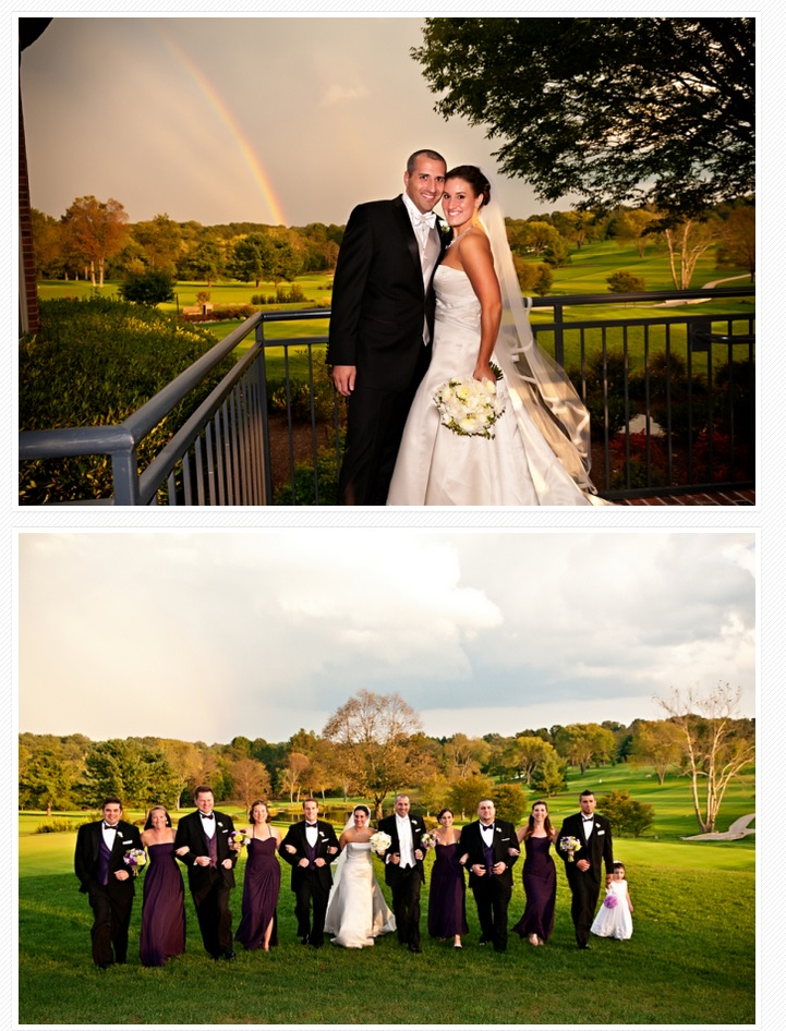 Bridal party at River Bend Country Club